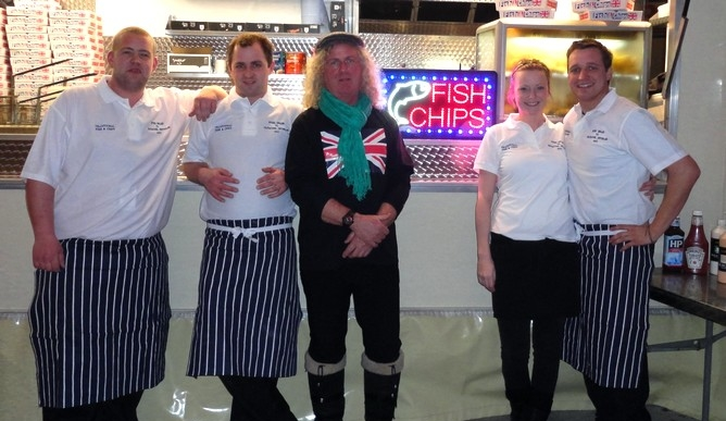 fish and chip catering team