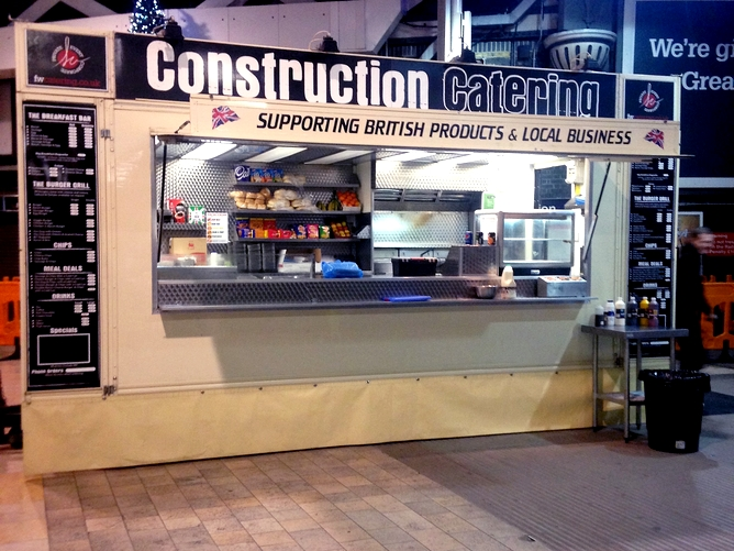 Construction catering unit