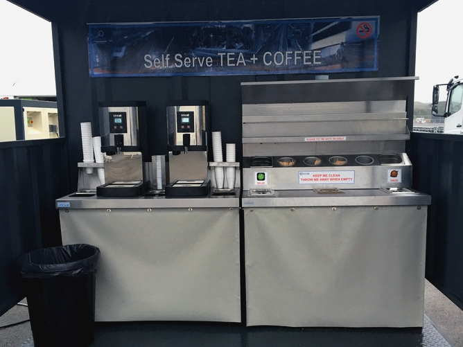 Self service tea and coffee catering