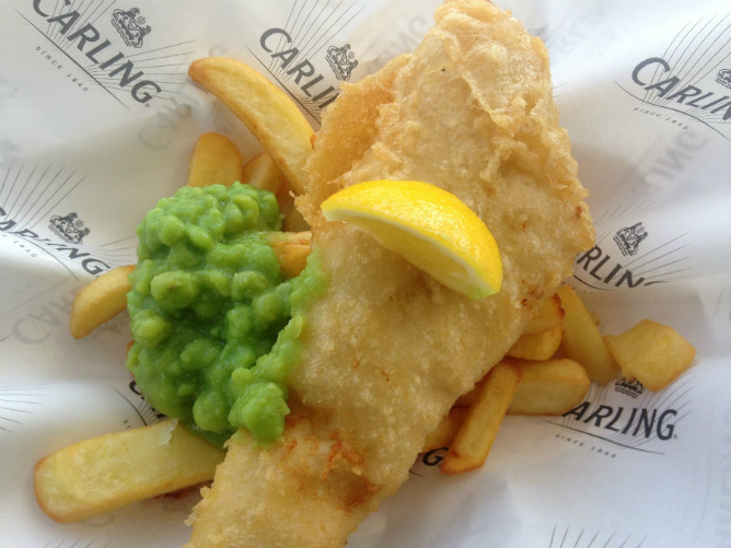 Great tasting freshly made fish and chips