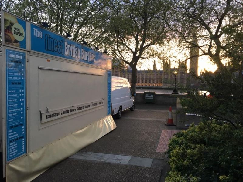 Promotional catering van for hire in London