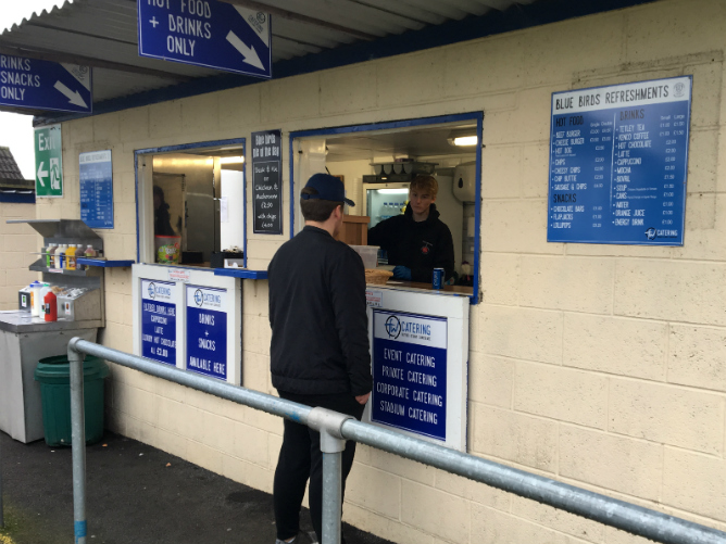 Kiosk catering for Chippenham football club.