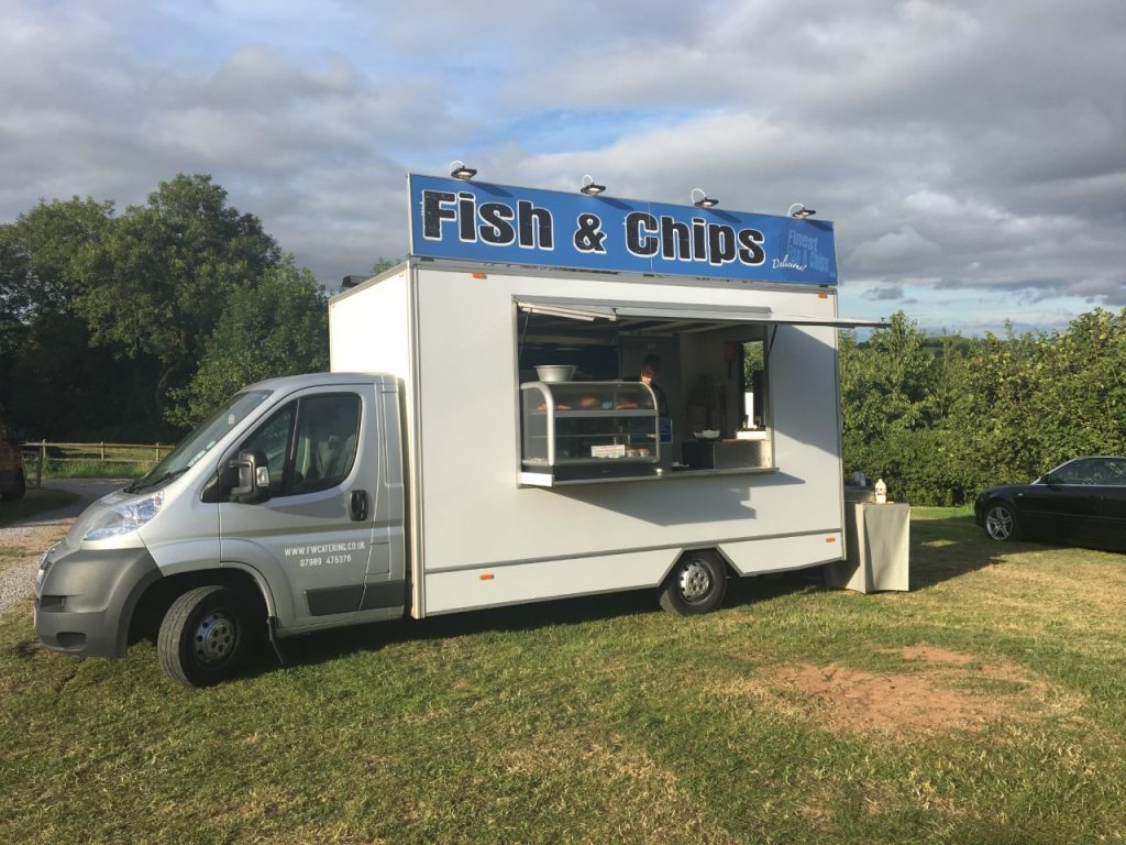 Fish and chips catering van for hire in the UK